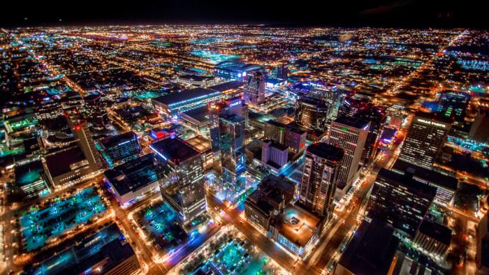 17. Phoenix at night.
