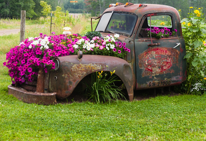 21. Near Bass Lake, this farm has a repurposed old truck that will make every DIYer swoon!
