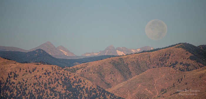 2.) A supermoon over the Rockies