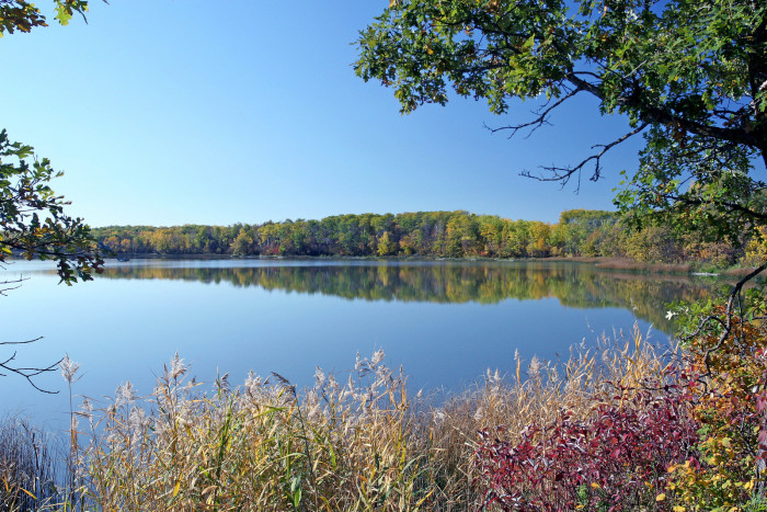 7. This glistening lake is nestled within the Turtle Mountains outside of Bottineau, North Dakota and is  SO PEACEFUL!