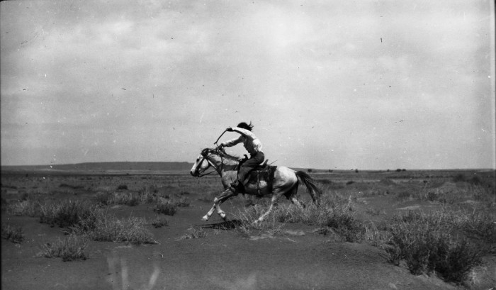 9. Faster! This Hopi boy was racing some other kids according to the photographer's notes. (c. 1913)