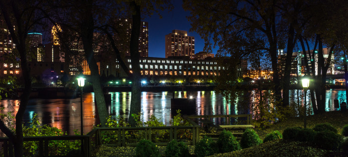 2. Night or day Nicollet island offers a quiet getaway from downtown Minneapolis and some phenomenal river views.