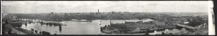 6. Then - A different view of Minneapolis, from 1912.