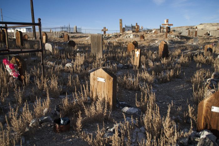 If hundreds of clowns aren't creepy enough, the Clown Motel shares its property with the historic Tonopah Cemetery. This cemetery was established in 1901 and is the final resting place of over 300 town residents. Several of these deceased residents were miners who died over 100 years ago in the Tonopah-Belmont mine fire.