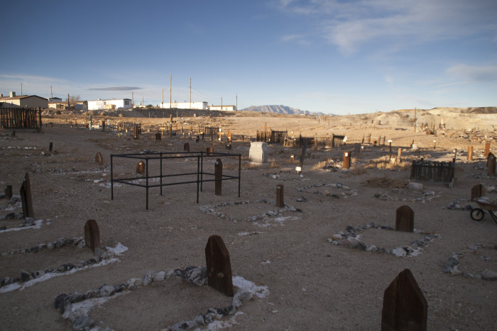A man named Leroy David purchased the property during the 1970s. His father, Clarence H. David, was one of the miners who perished in the Tonopah-Belmont mine fire and was buried in the cemetery. After a lot of thought, Leroy decided to put a motel on the land.