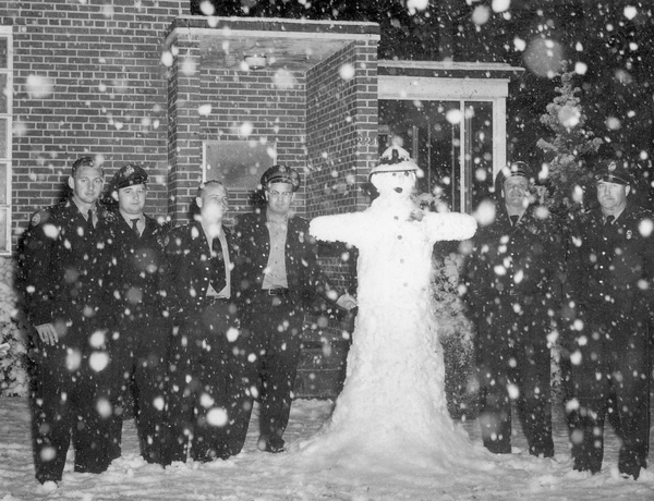 6. Firefighter Snowman