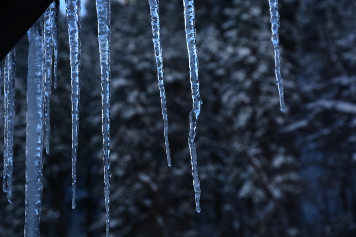 10. Brr! A particularly chilly sight: icicles at Oak Creek Canyon!