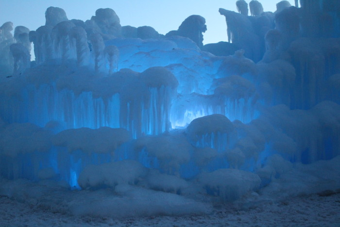 8. The ice castles in Eden Prairie are also a yearly phenomenon that will be sure to dazzle you.
