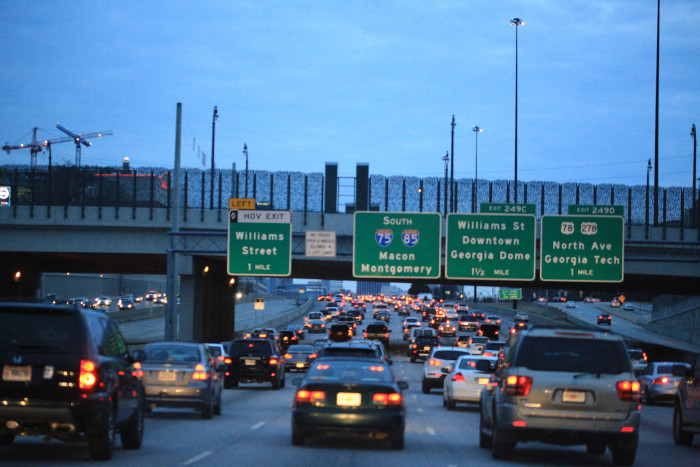 5) Traffic within a 30 mile vicinity of Atlanta