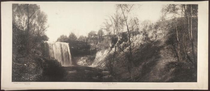 3. Then - Minnehaha Falls in 1906.