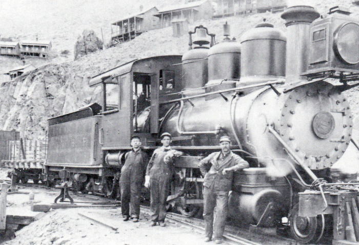5. These railroad workers are showing off their best poses near Jerome in Verde Valley.