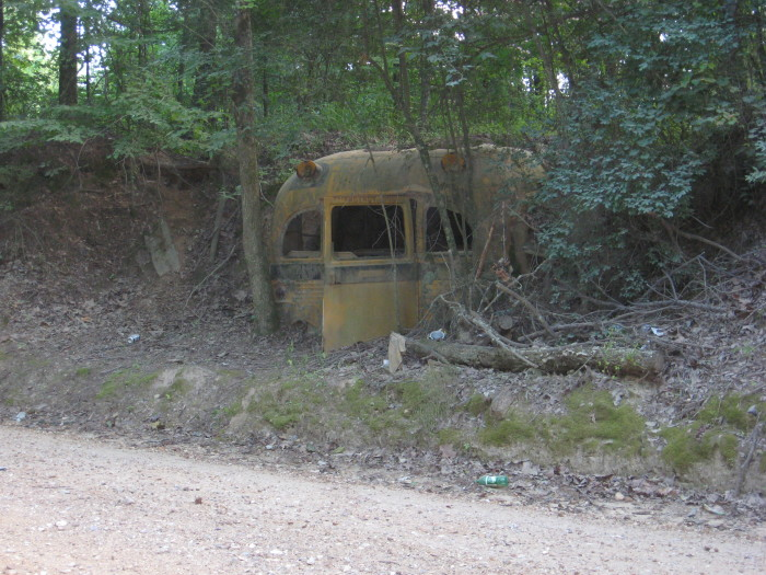 17. This abandoned school bus' remote location definitely adds to the eerie-factor.