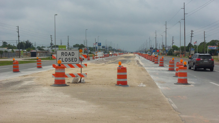 Traffic cones (or highway construction barrels) are basically our state flower.