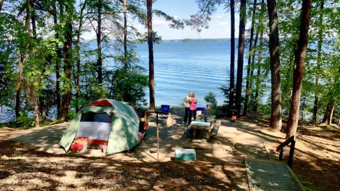 4) Camping