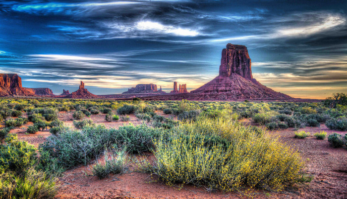 1. Monument Valley at sunrise.
