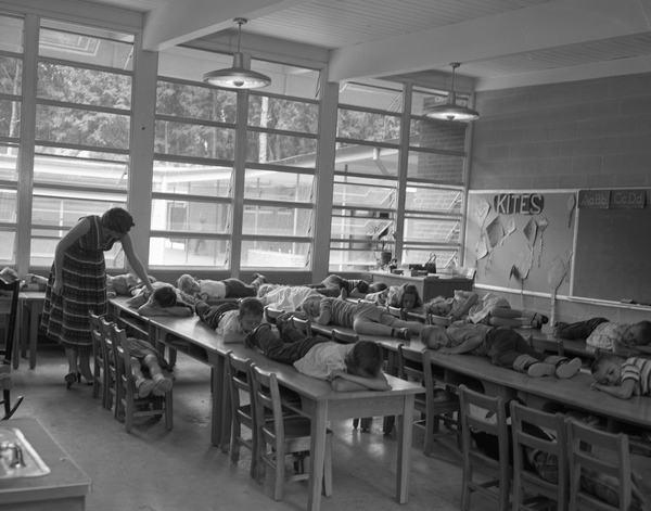 15. Children Napping in Elementary School