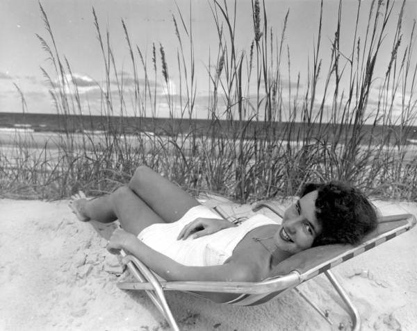 14. Relaxing on the Beach