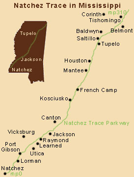 19. Ride along the Natchez Trace Parkway and take in the state's natural beauty.