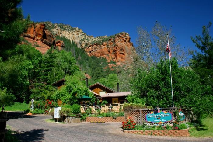 10 romantic spots in arizona to take that special someone for Cabin in sedona az