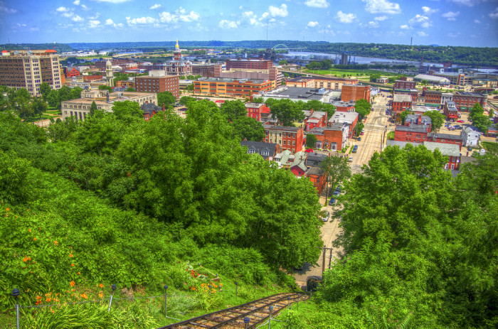 1. This photo of Dubuque captures the charming city and scenic river in one wonderful shot.