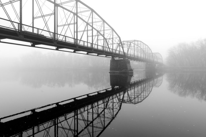 1. A foggy Sutliff Bridge looks unsettling, but intriguing.