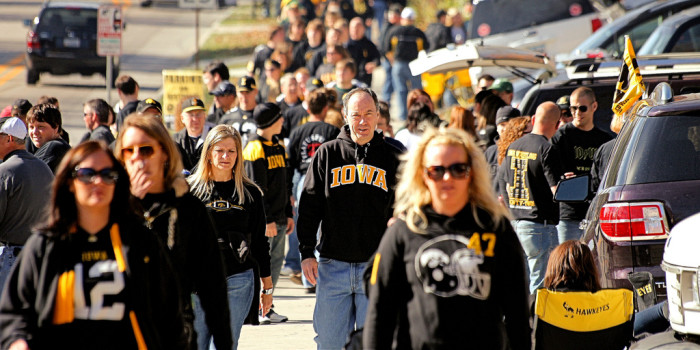1. The Iowa fan