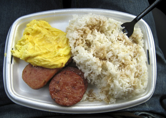 2) Rice is its own food group to Hawaiians. And many of them eat it with every meal, even breakfast.