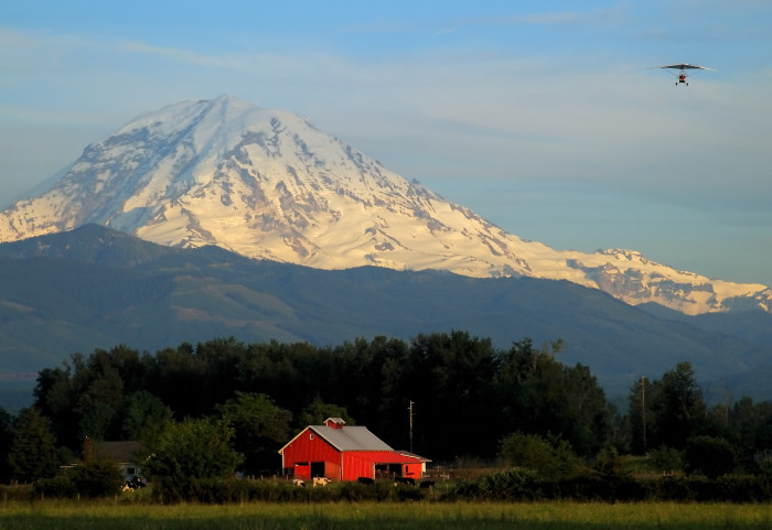 10. Could you ask for a better backdrop?? Located by Mt. Rainier.