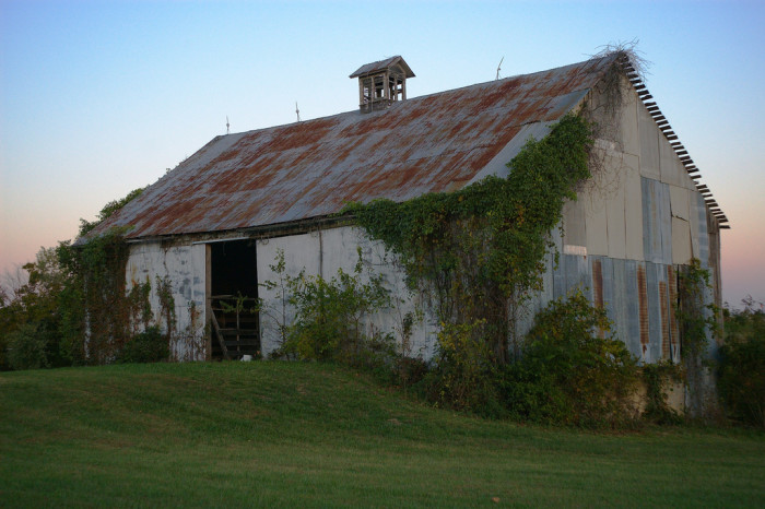 20.  A barn in rural Missouri that has seen better days.