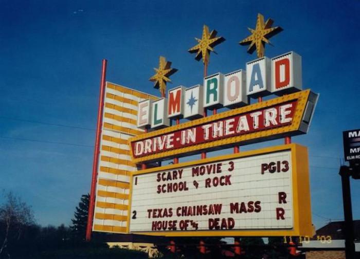 11) Elm Road Drive-In Theatre (Warren)