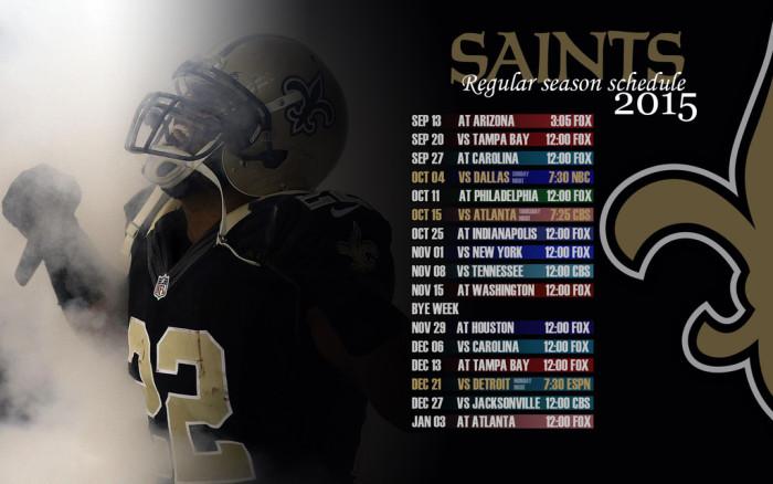 8) When you're planning something on a Sunday in the fall you check the Saints schedule first.