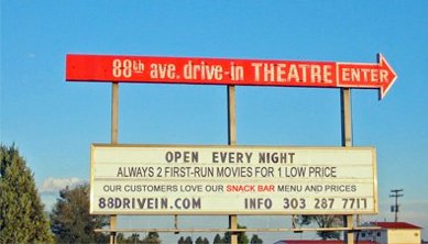 1.) 88 Drive-In Theater (Commerce City)