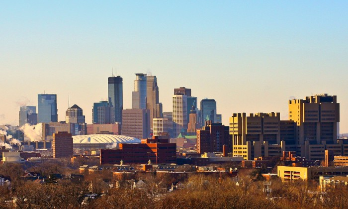 18. Amazing city views can be found from Tower Hill Park in Minneapolis.