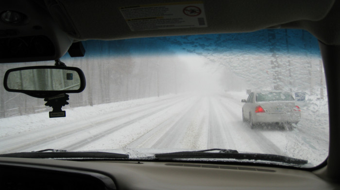 6) You can drive 60 mph through a 3-foot blizzard, without breaking a sweat