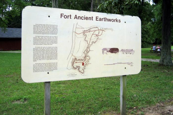 2) Fort Ancient Earthworks (Lebanon)
