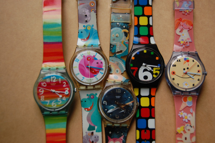 5. You wore your collection of Swatch watches not necessarily to tell time, but because they looked really COOL!