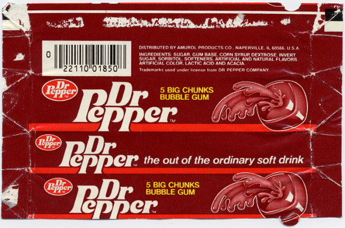 8) Dr Pepper bubble gum (okay, it wasn't as good as the actual drink, but it came pretty close).