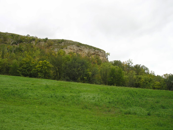 19. Barn Bluff is an example of the gorgeous riverside bluffs in Minnesota.