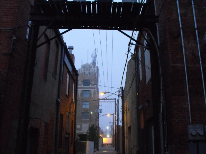 A mysterious alley beckons in Hastings.