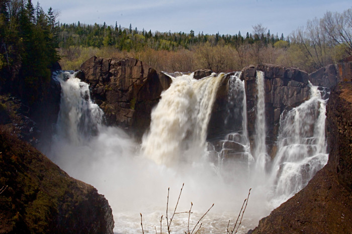 11. Grand Portage State Park may be the furthest drive but the falls offer a picnic spot like no other.