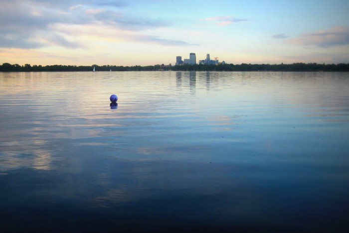 11. Lake Calhoun is not only the favorite of many in Minneapolis but it offers amazing views of the skyline.