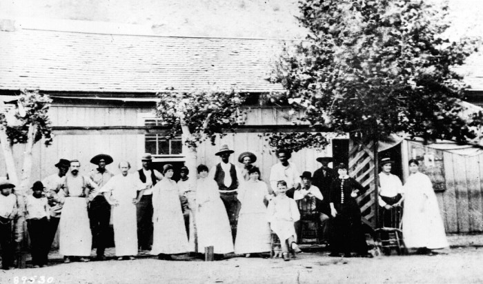 15. And, finally, it looks like these folks are getting ready for some fun at the dance hall in Clifton. (1884)