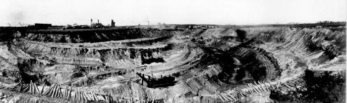 9. Then - 1910 in a Mesabi Range iron mine.