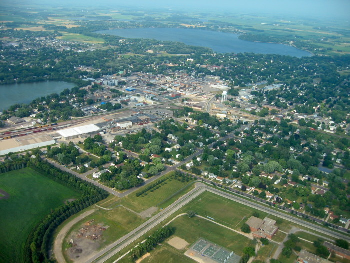 9. On a flight to Mankato this stunning aerial photo was captured.