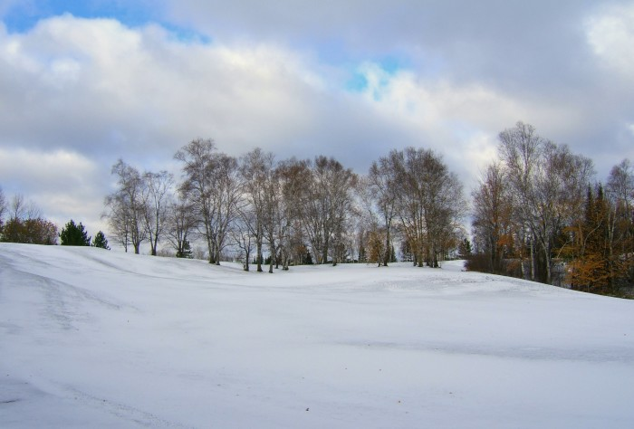 14. This snowy landscape shows that Minnesota hills are impressive all winter long.