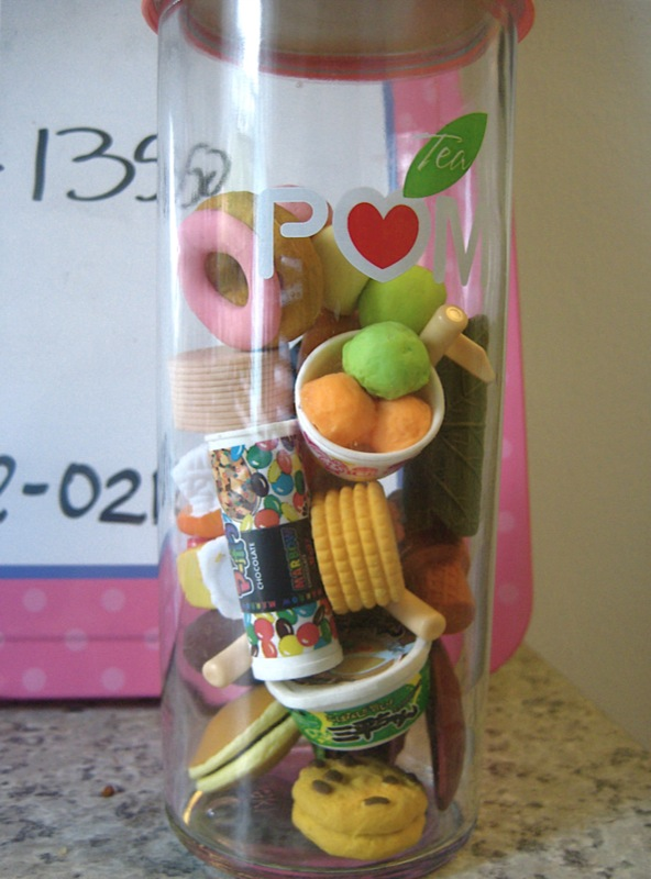 9. Those mini erasers in multiple designs would drive a mother crazy! I had a whole tube of them in the shapes of jungle animals and their food.