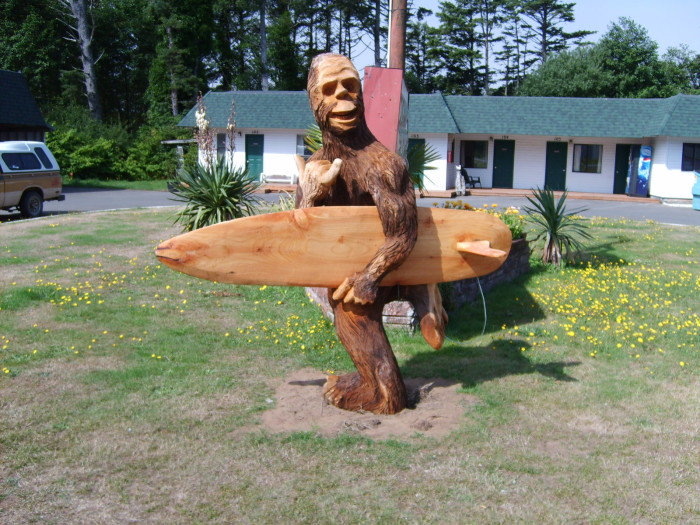 2. It's a felony to harass Sasquatch here…just in case you run into him and decide to throw a punch.