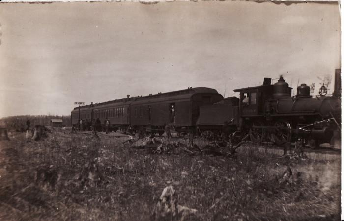 8. Then - An old train in Swatara, MN.