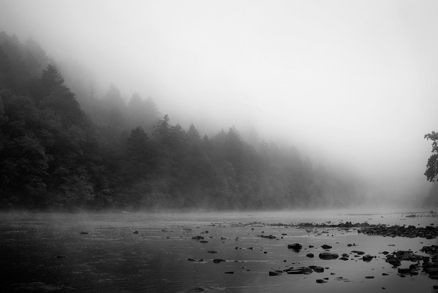 15. This is a haunting and gorgeous shot of a mountain lake.