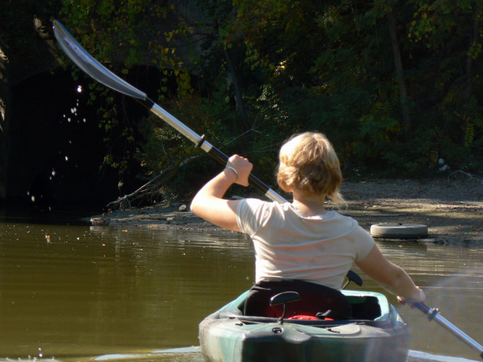 11) Learn to kayak or canoe down your favorite creek or  lake.